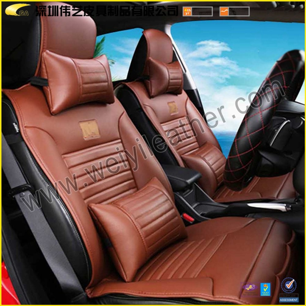 2014 New Design Fashion Hot Sale High Quality Wholesale Custom Fancy Leather Car Seat Cover