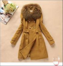 2014 Unique Fashion Fur Collar Women Coat Winter Heated Coat