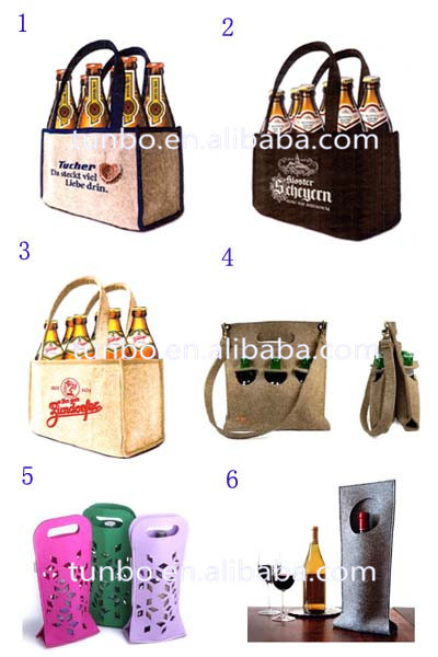 Wholesale high quality novelty felt wine holder