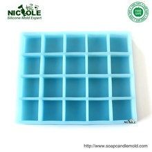 R0406 Die Casting Large Square Heavy Duty 20Cavity Food Grade Silicone Molds for Soaps