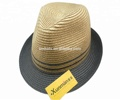 most popular High quality colorful cheap PP fedora straw hat