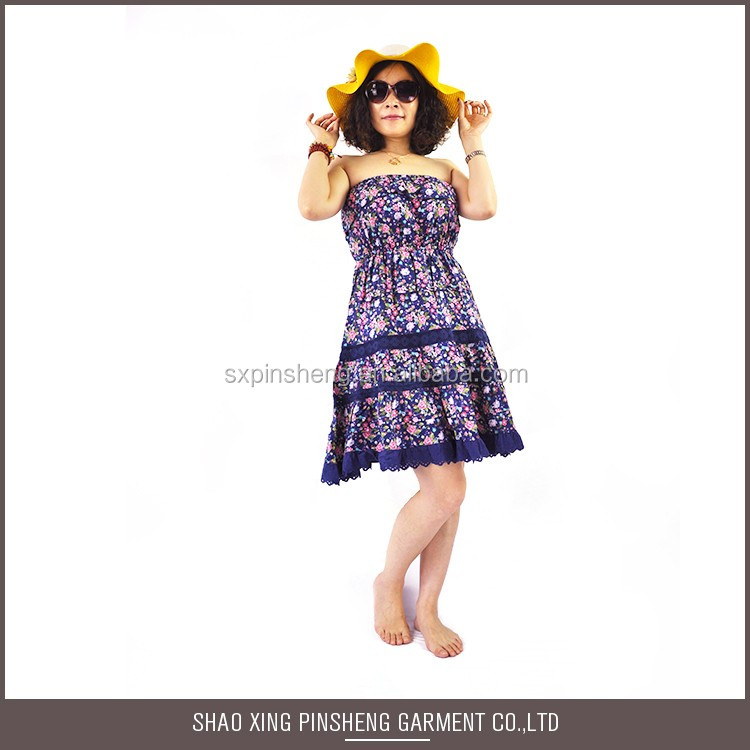 Factory Directly Provide wrap frill beach casual dress for party