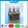Clear Plastic Beer Bottle Bag with Top Zipper Closure