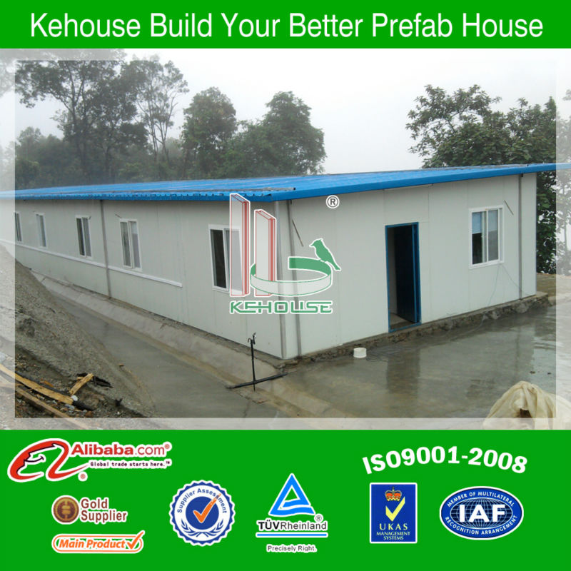 Prefabricated modular light steel 2 bedroom frame structure mobile homes with ISO 9001 AS/CE certificate