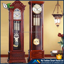 2016 solid wood grandfather wood clock