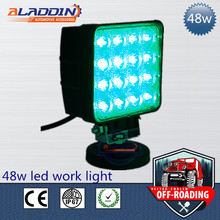 2017 cheap price 48W blue lighting 12/24V motorcycle led driving lights