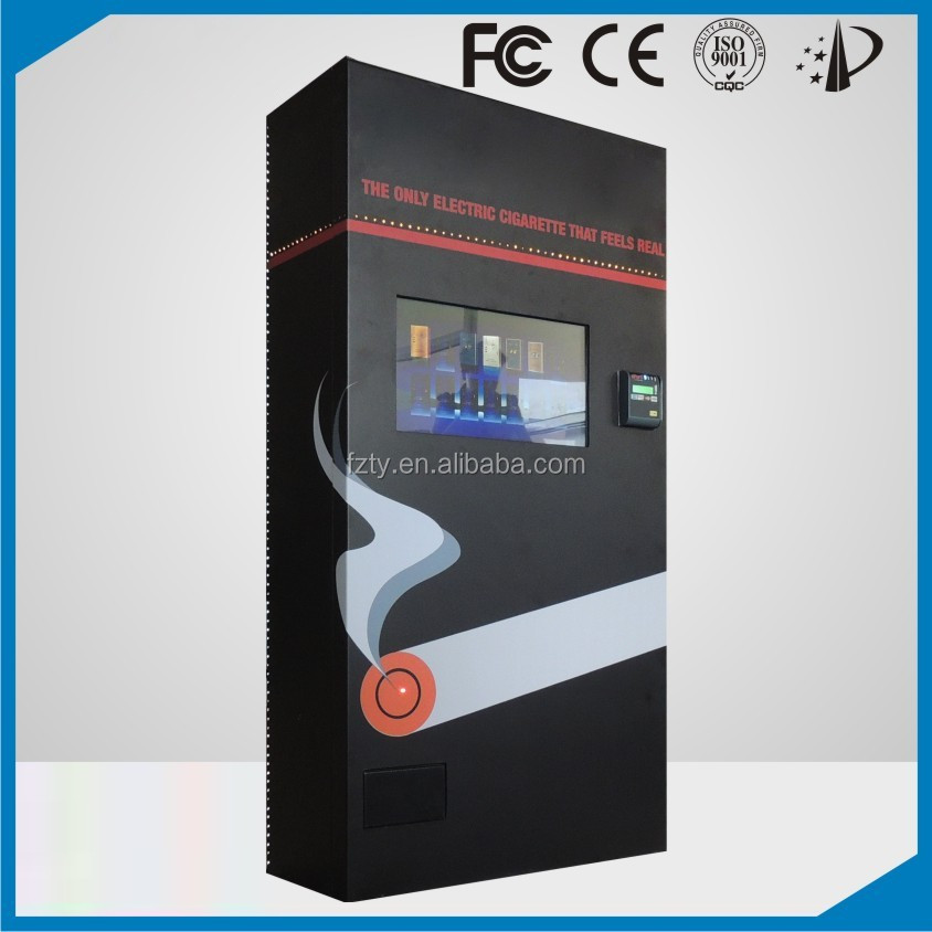 Customized e-cigarette vending machine with touch screen monitor