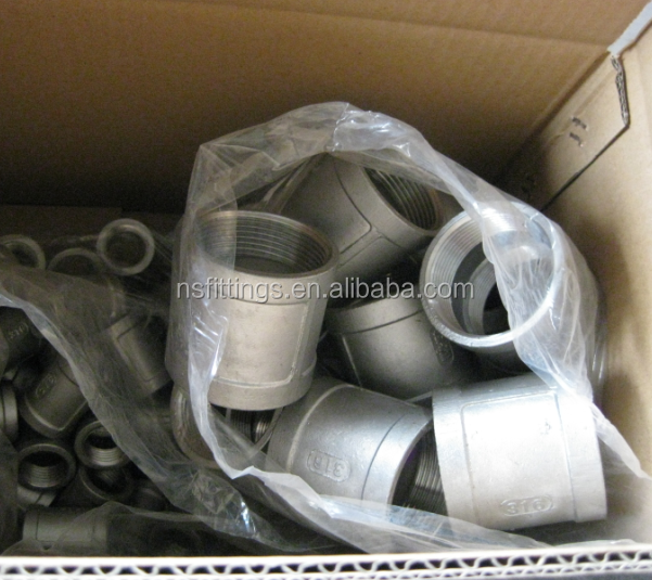 stainless steel 1-1/2'' 150 PSI casting internal threaded socket banded