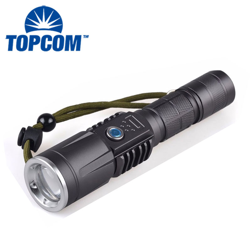 USB Power Bank Mobile Power Lighter Hunting Aluminum LED Rechargeable Flashlight
