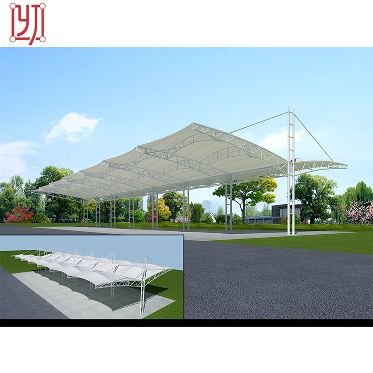 PVDF car parking cover