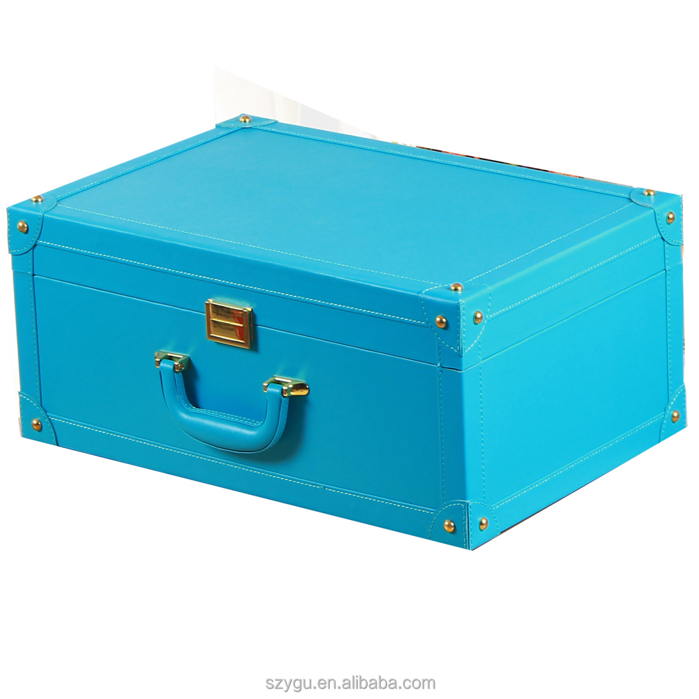 Hot Selling New Product Pu Leather Vintage Suitcase / luggage