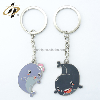 Wholesale cheap high quality custom bulk dolphins lover Aquarium souvenirs keychain for kids