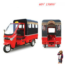 Brushless motor hot 600W-1000W battery electric 3 wheel rickshaw for passenger tuk