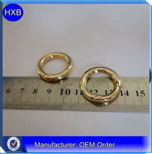 High quality OEM cheap price shiny gold metal zinc alloy O ring for bag