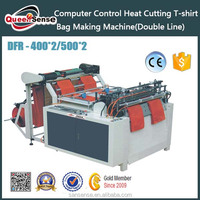 computer control automatic plastic bag bottom sealing hot heating cut bag making machine