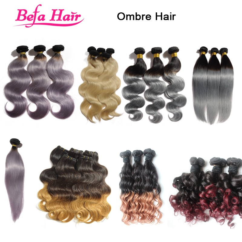 Aliexpress wholesale cheap brazilian remy ombre hair bundles