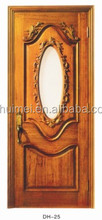 Quality products DH-25 glass insert solid wood door