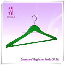 Colorful cheap clothes wooden hanger wholesale