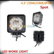 27W square LED driving light fit offroad SUV ATV 4WD