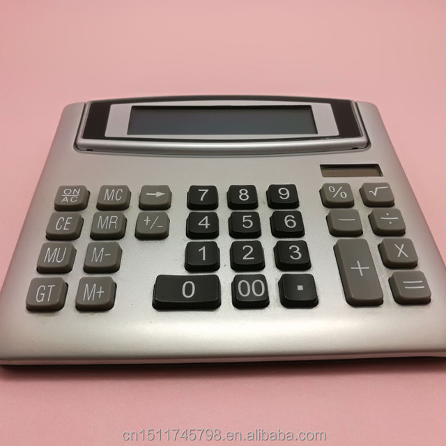large button electronic calculator with 12 digit screen
