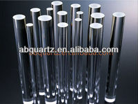 clear silica polished quartz glass rods 20 mm diameter for Semiconductor Industry
