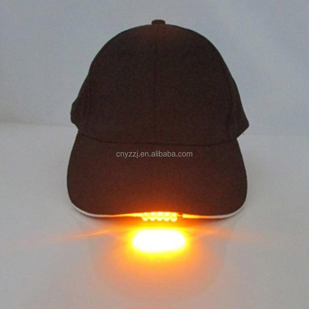5 LED Black Cap Hat With Light for Fishing and Hunting