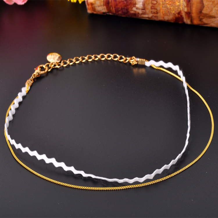 Simple Design Double Layer African Wedding Ladies Necklace