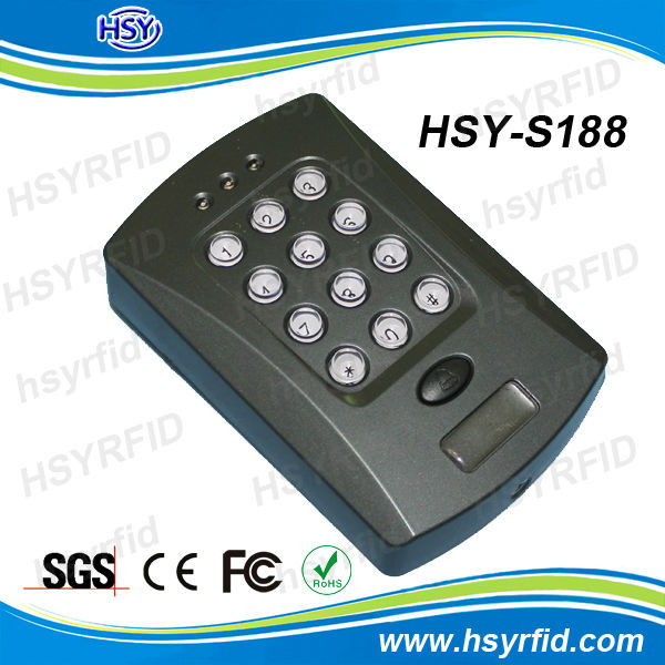 RFID door access reader security keypad with 13.56mhz or 125khz standalone reader