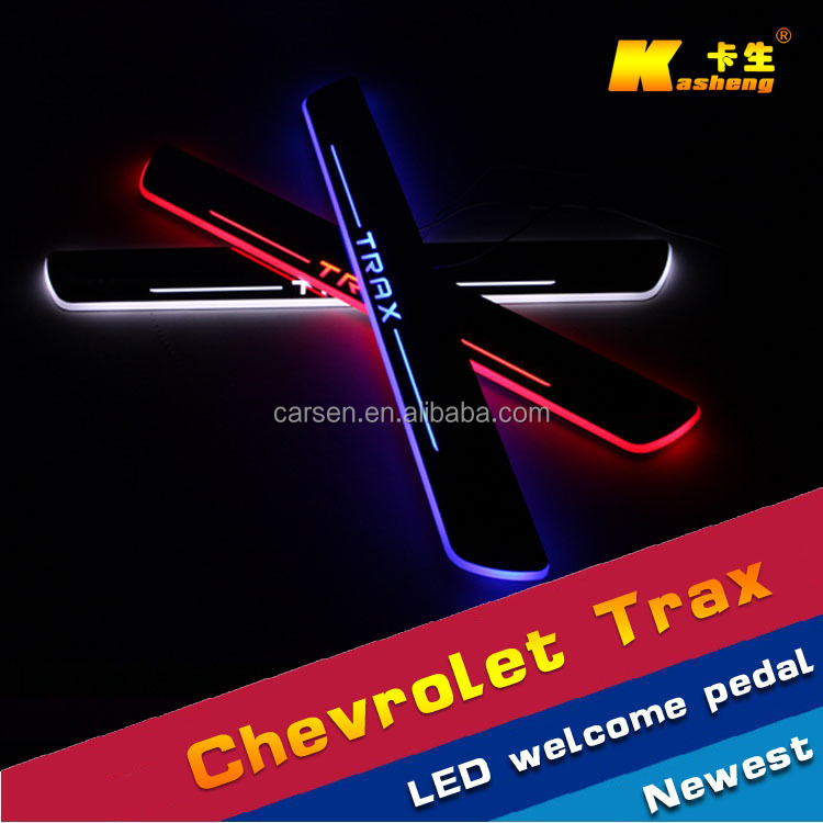 Auto Accessories Trax /car welcome pedal sill plate light/stainless scuff plate/LED Door sill for Chevrolet Trax 2014-2015