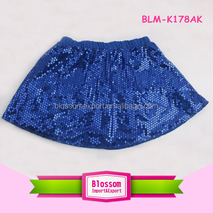 Hot baby Girl's Wholesale Turquoise Sequins Skirt Dance Skirt Baby pettiskirt