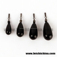 Tungsten tear drop shot weight with black color