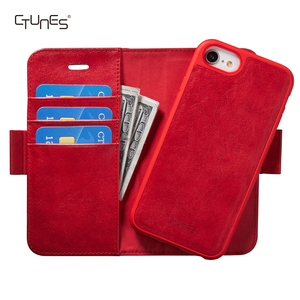 CTUNES Detachable Leather Flip Wallet Card Holder Phone Cover Case for iPhone 6 / 6s