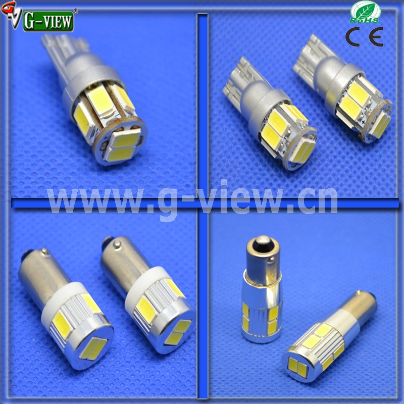 China factory wholesale canbus t10 6smd 5630 12V Car led