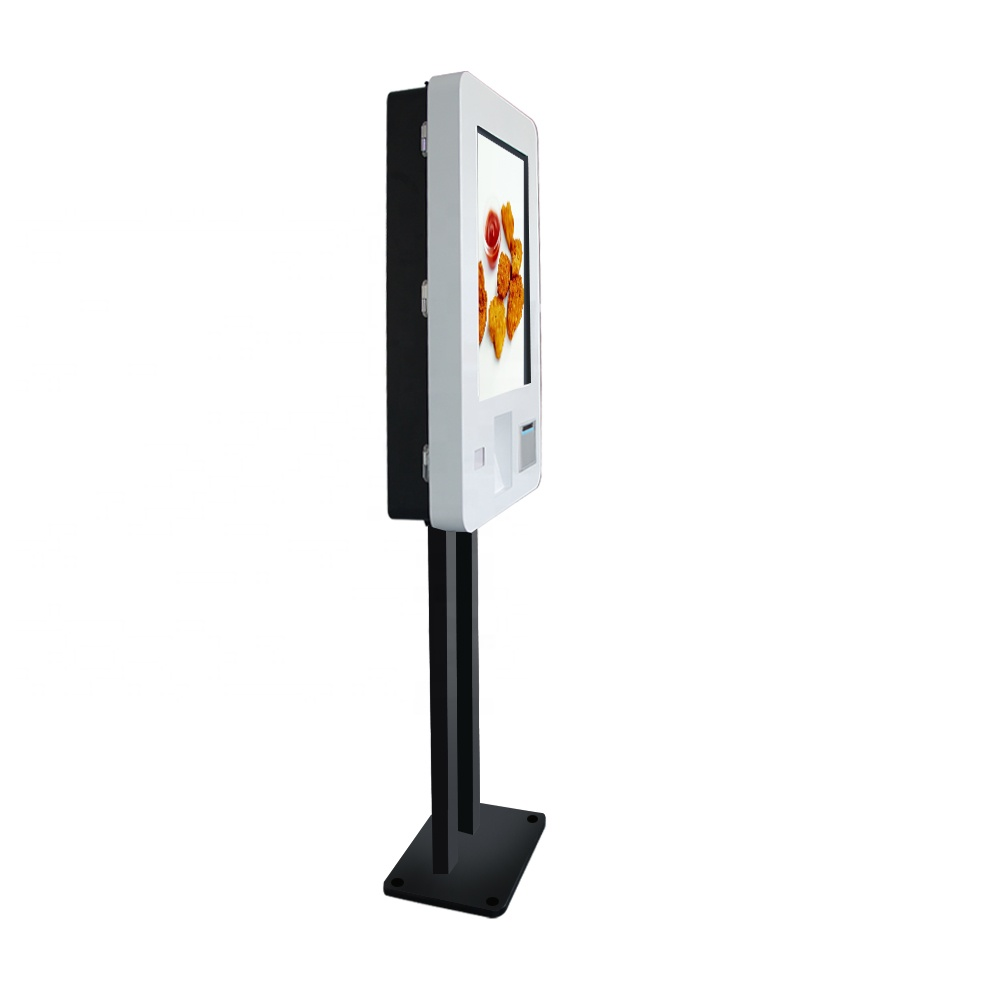 27 Inch Free Standing Automatic Self Service Ordering <strong>Payment</strong> Kiosk Machine