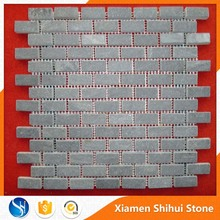 Mixed Color Stone Slate Mosaic Art for Wall and Tiles with Rectangle