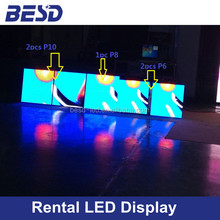 Shenzhen outdoor P6, P8, P10 outdoor smd die-casting aluminum rental led display/Super slim die-casting aluminum rental cabinet