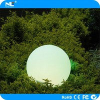 Alibaba hot sale remote control outdoor plastic RGB LED magic flashing ball light