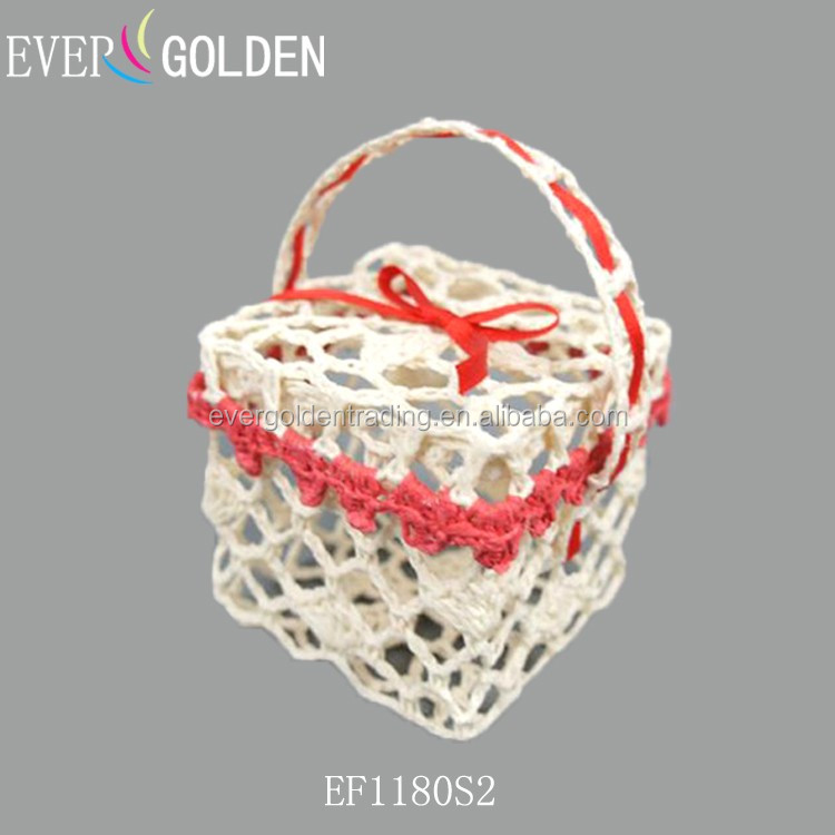 cotton hand knitted crochet lace storage boxes christmas decoration boxes gift candy pakaging boxes for christmas
