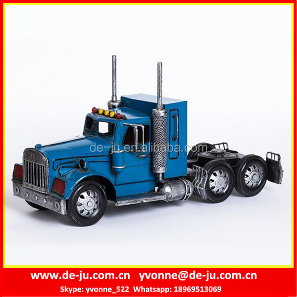 Optimus Prime Blue Metal Model Car Kits