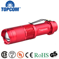 Aluminum Strong Bright xml t6 10W Zoomable flashlight