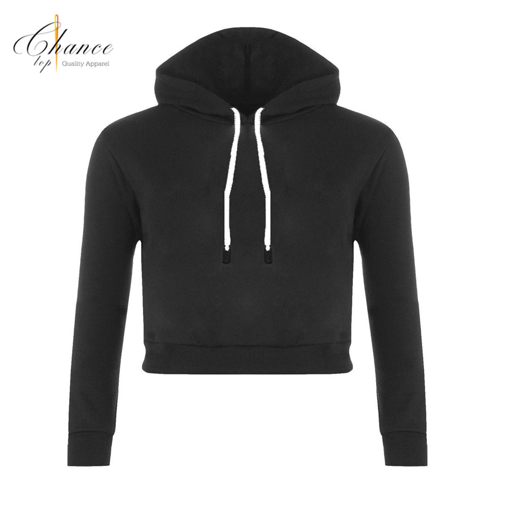 H1711C09 Hot Sale New <strong>Fashion</strong> Design High Quality Custom Long Sleeve Crop Top Hoodies&Hoodie Women