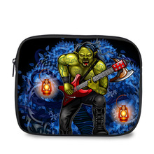 Universal design skull cartoon print case portable tablet pouch 10.1 for Ipad