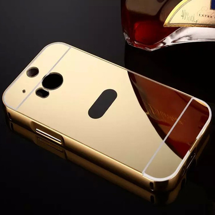 Best Selling Luxury Aluminium Bumper PC Mirror Back Phone Case For LG G2 G3 G4