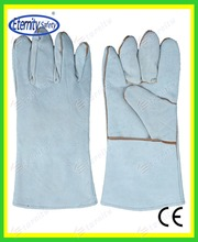 hot sales 14'' gray natural welding glove