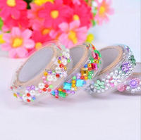 customized hotfix rhinestone acrylic motif self adhesive rhinestone tape design for bags decoration