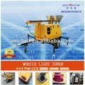 10kw mobile light tower diesel generator