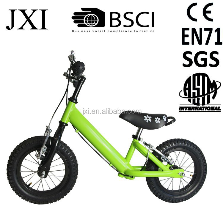 2015 fashion green color new BMX design factory price kids balance bike twinkle balance bike