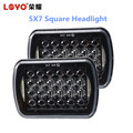 "high quality 5D 72W 7"" square headlight 5*7 led work light for jeep headlight"