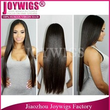 Factory Cheap Long Straight Black Virgin Chinese Full lace Wigs