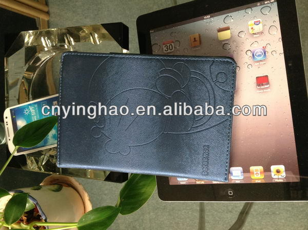 New style hot selling leather wallet cover for ipad mini